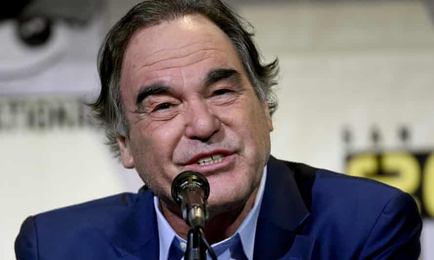 """Director/writer Oliver Stone attends the """"Snowden"""" panel atComic-Con International on Thursday"""