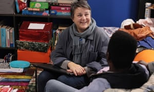 Bridget Chapman at a centre that supports young asylum seekers in Folkestone