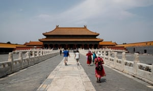 People visit the Palace Museum almost six months after its closure due to the coronavirus pandemic on July 21, 2020 in Beijing, China