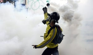 Demonstrators and security forces have clashed in the Venezuelan capital for two days in a row.