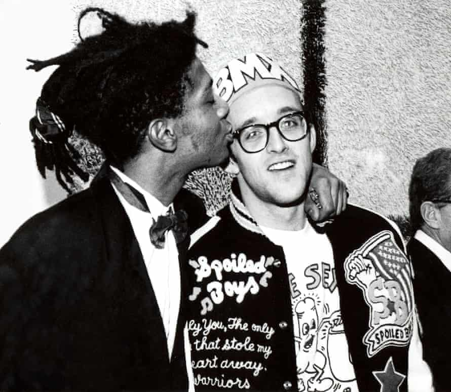 Keith Haring and Jean-Michel Basquiat in 1987.