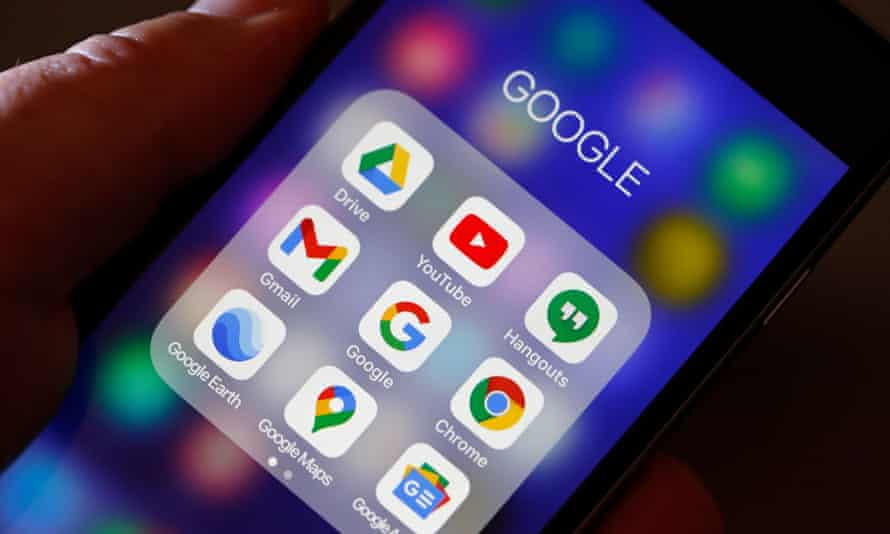 Google apps on an iPhone