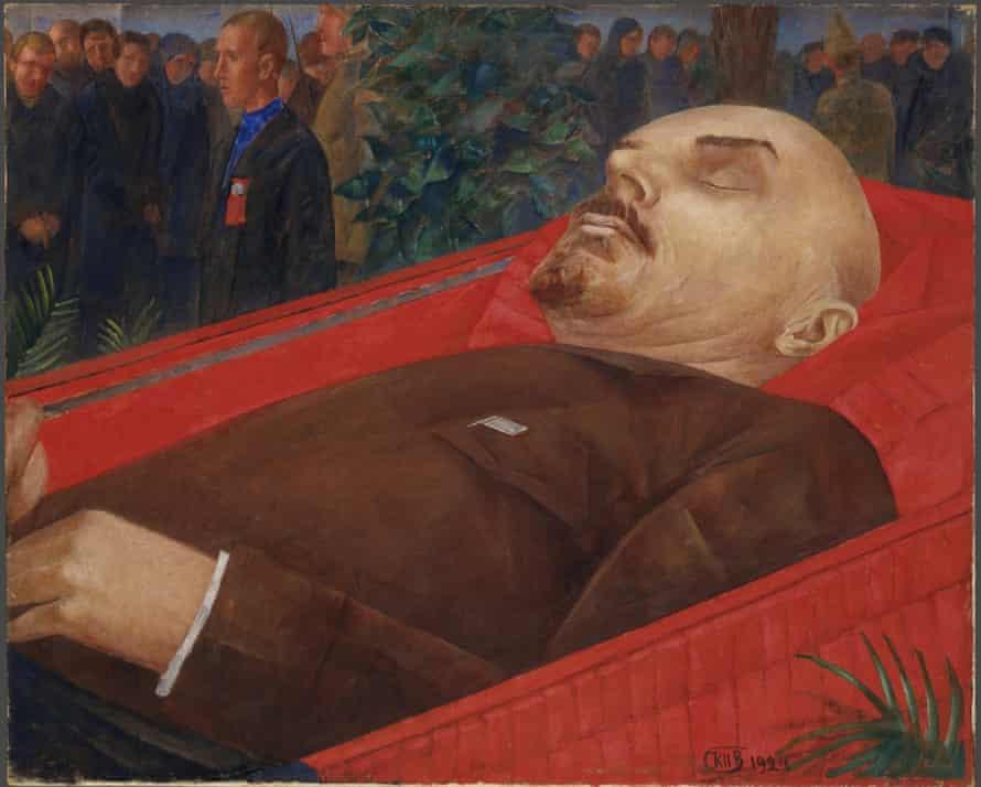 Petrov-Vodkin's Beside Lenin's Coffin (1924).