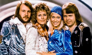 Benny Andersson, Anni-Frid Lyngstad, Agnetha Fältskog and Björn Ulvaeus after making it to the Eurovision Song Contest final in 1974.