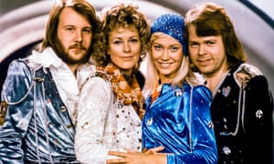 Abba in 1974, the year they won the Eurovision song contest with their song Waterloo