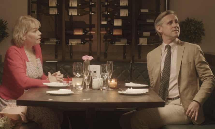 In real life ... Ian Hallard and Sara Crowe in a between-lockdowns scene from Adventurous.