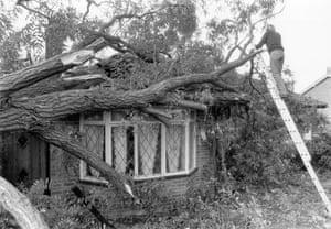 Storm damage in Eynsford, Kent, 16 Oct 1987 (Archive ref. GUA/6/9/1/1/W box 5)