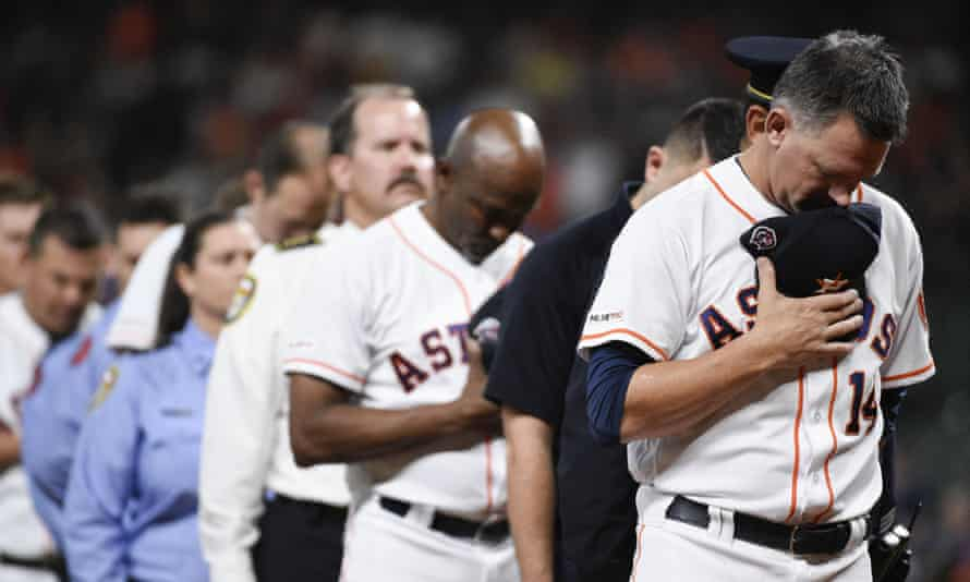 AJ Hinch, right, is out of a job after MLB concluded the Astros had stolen signs from opponents