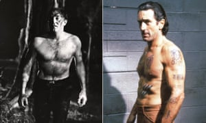 Robert Mitchum and Robert De Niro as Max Cady in Cape Fear (1962 and 1991).