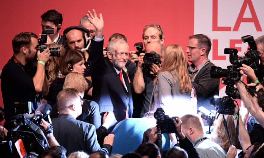 Jeremy Corbyn after being announced as the winner of the party's leadership contest.