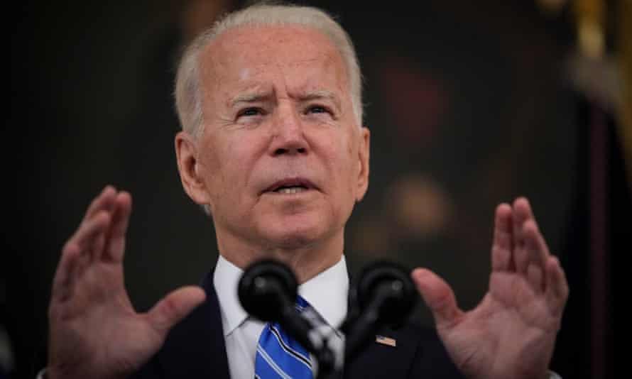 Joe Biden habla sobre la recuperación económica de la nación de la pandemia Covid-19 en la Casa Blanca