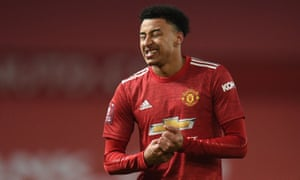 FBL-ENG-FA CUP-MAN UTD-WATFORDManchester United's English midfielder Jesse Lingard gestures during the English FA Cup third round football match between Manchester United and Watford at Old Trafford in Manchester, north west England, on January 9, 2021. (Photo by Oli SCARFF / POOL / AFP) / RESTRICTED TO EDITORIAL USE. No use with unauthorized audio, video, data, fixture lists, club/league logos or 'live' services. Online in-match use limited to 120 images. An additional 40 images may be used in extra time. No video emulation. Social media in-match use limited to 120 images. An additional 40 images may be used in extra time. No use in betting publications, games or single club/league/player publications. / (Photo by OLI SCARFF/POOL/AFP via Getty Images)
