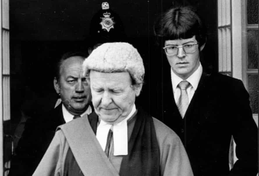 Sir William Mars Jones with his son Adam in 1976.