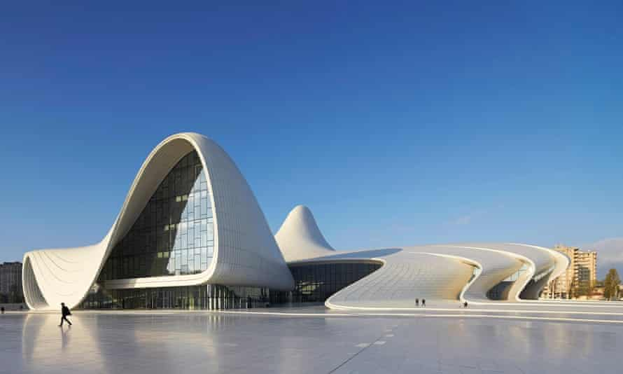 'Dreamlike space': Zaha Hadid's Heydar Alijev cultural centre in Baku, Azerbaijan, completed in 2012.