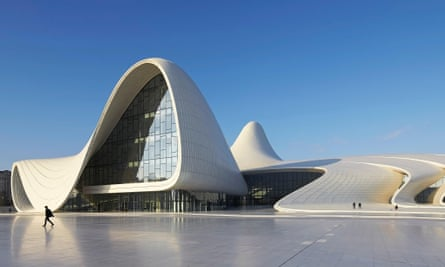 Revels in sensuous freedoms … Zaha Hadid's Heydar Aliyev centre in Azerbaijan.