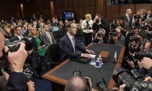 Mark Zuckerberg testifies before US senators.
