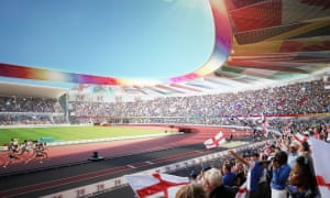 An artist's impression of Alexander Stadium in Birmingham, which is set to host event at the 2022 Commonwealth Games.