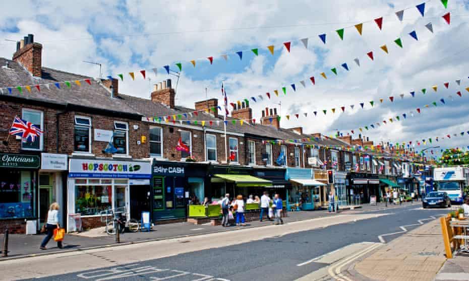 Bucking the downward trend ... Bishopthorpe Road in York.