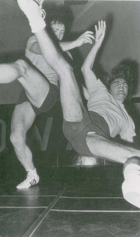 Irving caught by a foot-sweep in 1973