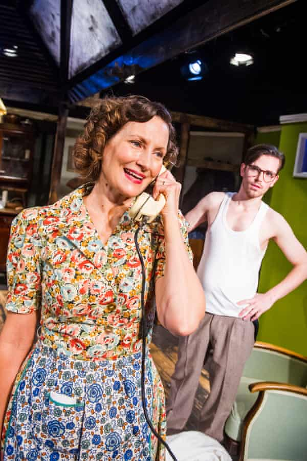 Nesba Crenshaw (Esther) and Adam Harley (Arnold) in No Villain by Arthur Miller @ Old Red Lion. Directed by Sean Turner. Dec 2015.