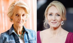 Joanna Trollope, left, and JK Rowling, who frequently shares her views on Twitter.