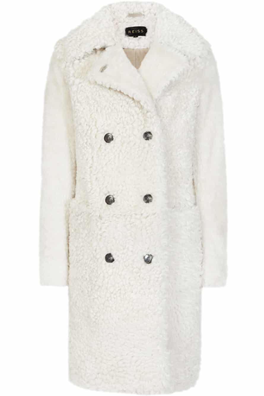High-street brand Reiss's Clemi shearling coat is on sale for £1,295.