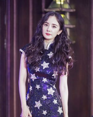 The Chinese actor Yang Mi said on Sunday she was ending her contract to represent Versace.