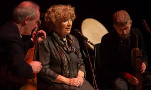 Resplendent melancholy … Shirley Collins on stage at City Halls, Glasgow.
