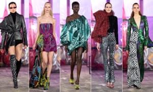 Michael Halpern's flamboyant designs on the catwalk at London Fashion Week