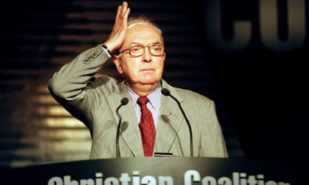 Jesse Helms speaks to Christian Coalition
