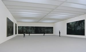 Interior model of main gallery of the new Tate St Ives.
