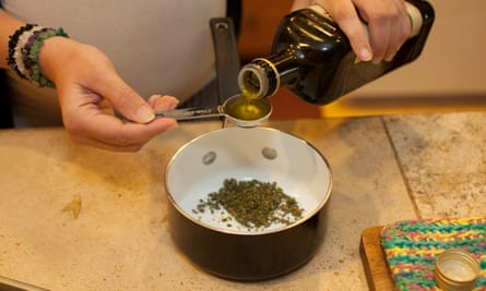 Colorado chef  Jessica Catalano prepares a cannabis-infused meal at her home
