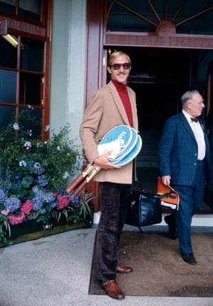 Stan Smith arrives at Wimbledon in 1972