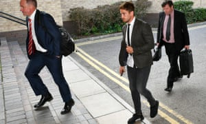 Danny Cipriani arrives at the Holiday Inn Bristol Filton to face the RFU independent disciplinary panel.