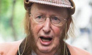 John McCririck in his signature deerstalker hat