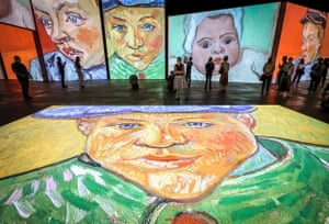 Sydney, Australia Artworks are projected at an exhibition titled Van Gogh Alive at the Royal Hall of Industries