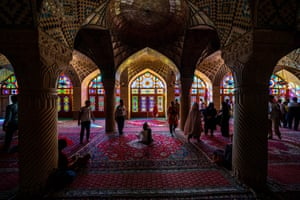 The Nasir al-Mulk mosque was built during the Qajar dynasty and completed in 1888.