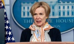 Deborah Birx wears one of her collection.