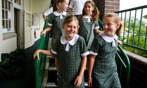 Primary school students in Sydney