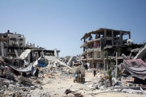 Gaza destroyed by bombing