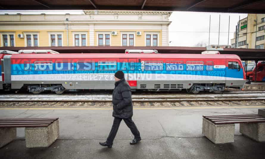 Train reading 'Kosovo is Serbia' was sent to Kosovo, plunging relations in the region into a crisis.