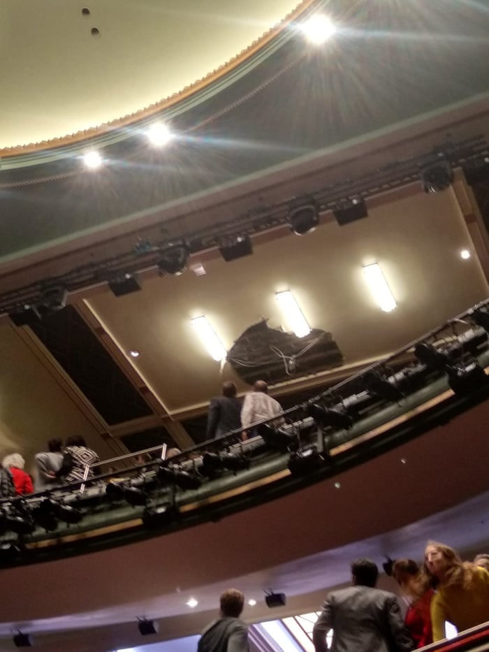 Piccadilly Theatre Evacuated After Ceiling Collapses During