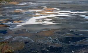Urmia Lake ran out of water on October 11, 2014.