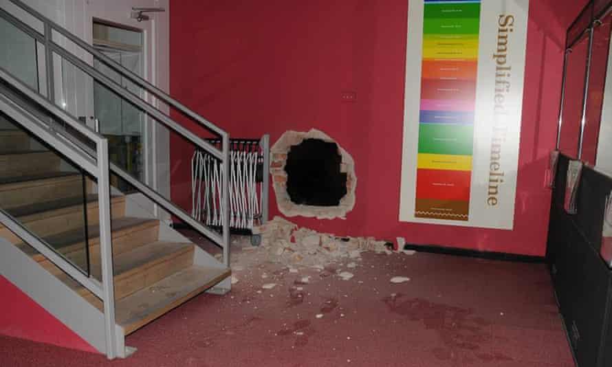 The scene of a raid at Durham University's Oriental Museum.