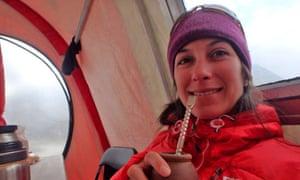 Natalia Martínez was stranded alone about halfway up Canada's highest peak.