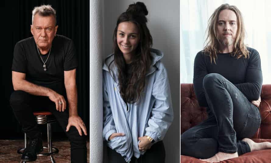 Composite image of Jimmy Barnes, Amy Shark and Tim Minchin