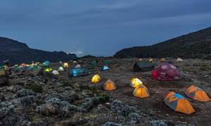 Camp on Lemosho Route, Tanzania, Kilimanjaro,