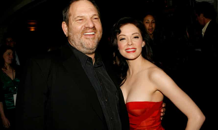 Harvey Weinstein and Rose McGowan pictured in March 2007