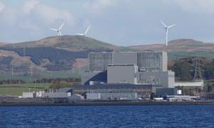 Hunterston B nuclear power Station in West Kilbride, Scotland