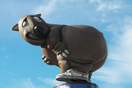 Fatso, the unofficial mascot of the Sydney Olympic Games, seen at Olympic Park.